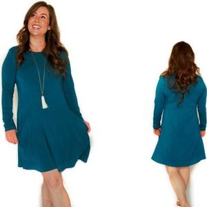 Betabrand Sweatshirt Travel Dress